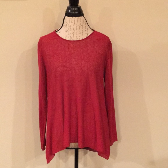 1bc3cacdf7a2e Eileen Fisher Organic Linen Crepe Knit Top